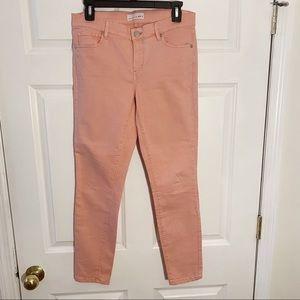 Loft Pink Modern Skinny Crop Stretch Jean